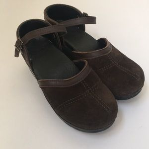 Dansko Sam Mary Jane clogs brown suede size 36